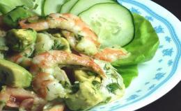 Herbed Shrimp and Avocado Salad